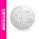 批评。 库存照片