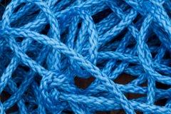 蓝色尼龙绳索 库存图片