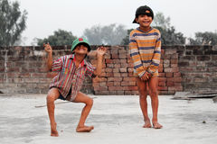 印地安童年 免版税库存照片
