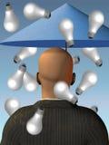 脑子想法下雨风暴 免版税库存照片