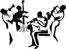 爵士乐四重唱 图库摄影