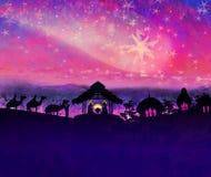 Γέννηση του Ιησού στη Βηθλεέμ. Στοκ φωτογραφία με δικαίωμα ελεύθερης χρήσης