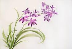 野生紫色兰花 免版税库存图片