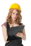 女性建造者 库存照片