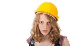 女性建造者 免版税库存照片