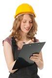 女性建造者 免版税库存图片