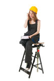 女性建造者 免版税图库摄影