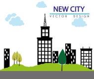 Дизайн города Стоковая Фотография