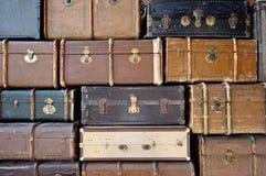 老行李。 免版税库存图片