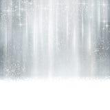 抽象银色圣诞节,冬天背景 免版税库存照片