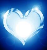 蓝色心脏 库存图片