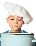 Αγόρι μαγείρων Στοκ Εικόνα