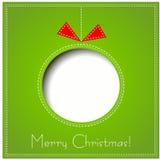 圣诞快乐纸贺卡 库存图片
