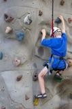 登山人墙壁 图库摄影