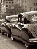 古色古香的婚礼汽车 免版税库存照片
