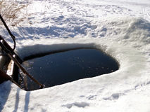 冰孔 库存图片