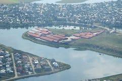 空中布加勒斯特视图 免版税图库摄影