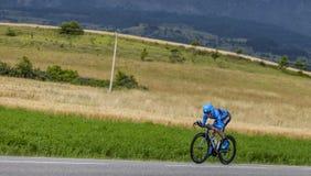 骑自行车者丹尼尔马丁 免版税库存照片
