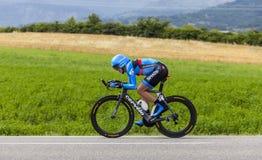骑自行车者丹尼尔马丁 库存照片