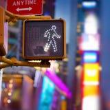 Знак прогулки Нью-Йорка Стоковое Фото