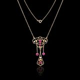 Ожерелье ювелирных изделий золота Стоковые Изображения