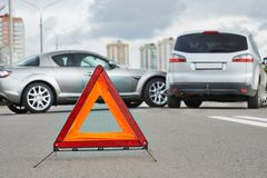 Σύγκρουση τροχαίου ατυχήματος Στοκ εικόνα με δικαίωμα ελεύθερης χρήσης