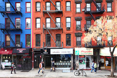 Ζωή στους δρόμους πόλεων της Νέας Υόρκης Στοκ φωτογραφία με δικαίωμα ελεύθερης χρήσης