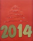 被撕毁的纸圣诞树 免版税库存图片