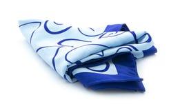 蓝色围巾 免版税库存照片