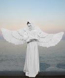 天使-爱、纯净和保护的标志 免版税库存图片