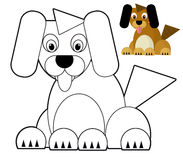 动画片动物-着色页-孩子的例证 库存图片