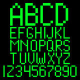 Алфавит пиксела Стоковая Фотография RF