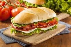 自创意大利次级三明治 免版税库存图片