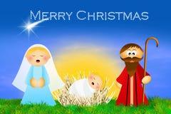 圣诞节诞生场面 库存图片