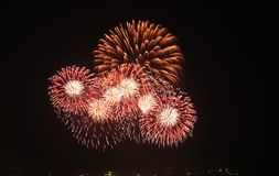 Τα πυροτεχνήματα παρουσιάζουν Στοκ Εικόνα