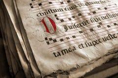 中世纪书的唱诗班 免版税库存照片