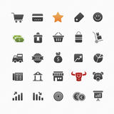 企业和购物传染媒介标志象集合 免版税库存照片