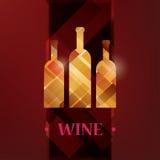 Карточка меню вина Стоковое Изображение