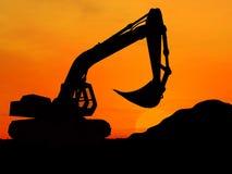 挖掘机 免版税库存照片