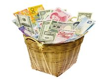 мир валют корзины Стоковое фото RF