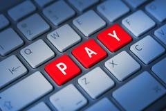 薪水键盘键 免版税库存图片