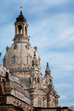 路德教会在德累斯顿 免版税库存图片