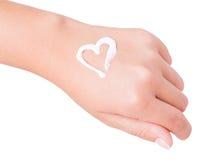 Κρέμα χεριών Στοκ εικόνα με δικαίωμα ελεύθερης χρήσης