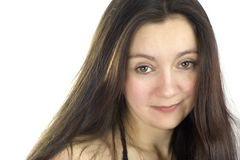 постаретая женщина волос длинняя средняя Стоковая Фотография