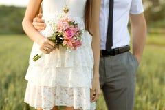 Ακριβώς παντρεμένο ζευγάρι Στοκ Εικόνες