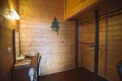 一间旅舍的室在台湾小山区域 库存照片