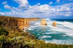 十二位传道者,大洋路,澳大利亚 免版税图库摄影
