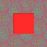 花卉五颜六色的框架 库存图片