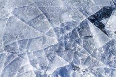 被打碎的冰 图库摄影