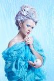 Замороженная фея с яблоком Стоковые Фото